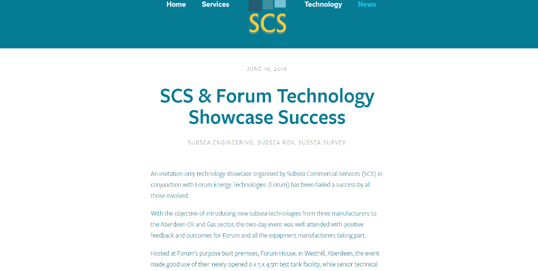 Forum Energy Technologies & Subsea Commercial Services